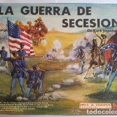 Juegos Antiguos: JUEGO DE MESA NAC LA GUERRA DE LA SECESION COMPLETO. Lote 145888554