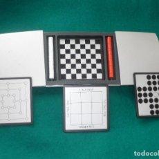 Juegos Antiguos: JUEGO DE MESA 4 EN MINIATURA. CERRADO 14X7,5 CM ABIERTO 24CM.. Lote 147057570