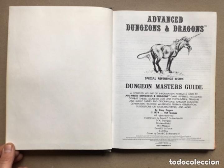 Juegos Antiguos: DUNGEON MASTERS GUIDE Y FIEND FOLIO. ADVANCED D & D AVENTURE GAMES. TSR GAMES. - Foto 3 - 150251266