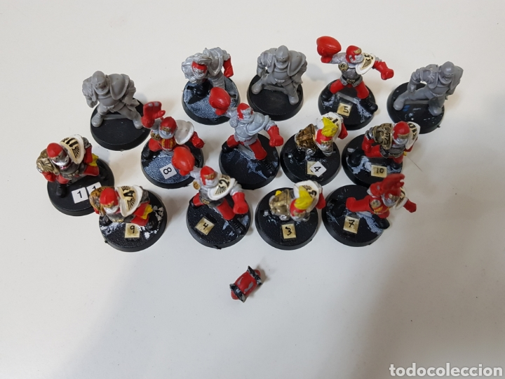 Juegos Antiguos: Blood Bowl - EQUIPO HUMANO - 14 MINIATURAS DE PLASTICO + BALÓN (DESCATALOGADOS) AÑOS 90 - Foto 3 - 150371513