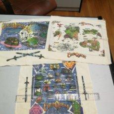 Juegos Antiguos: 3 PAÑUELOS EVERQUEST THE WORLD OF NORRATH, SHADOWS OF LUCLIN Y PLANES OF POWER, 2002 SCEA. Lote 150433206