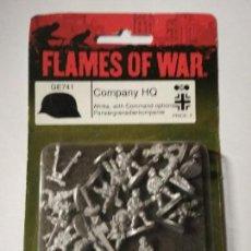 Juegos Antiguos: FLAMES OF WAR - GE741 - COMPANY HQ - BLISTER PRECINTADO . Lote 150597990