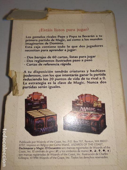 Juegos Antiguos: Magic el Encuentro.El juego de cartas coleccionables nº1 en el mundo.Wizards 1996. - Foto 3 - 150645446