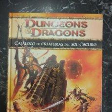 Juegos Antiguos: DUNGEONS & DRAGONS 4.0 CATALOGO DE CRIATURAS DEL SOL OSCURO (DEVIR DD41020) - TAPA DURA. Lote 151485706