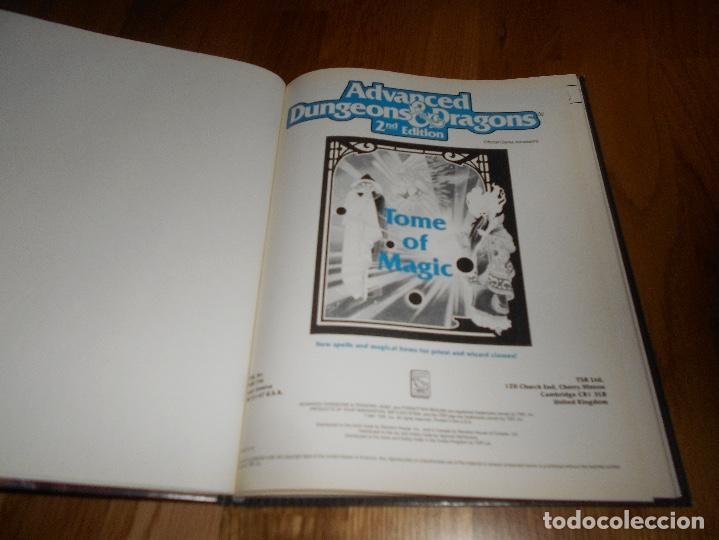 Juegos Antiguos: JUEGO DE ROL DRAGONES Y MAZMORRAS TOME OF MAGIC 1991 ADVANCED DUNGEONS & DRAGONS 2ND EDITION - Foto 2 - 152201650
