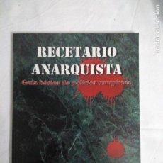 Juegos Antiguos: RECETARIO ANARQUISTA SUPLEMENTO DE ROL PARA VAMPIRO DE LA FACTORIA DE IDEAS , NUEVO.. Lote 153634770