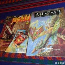 Juegos Antiguos: ALEA ESPECIAL ROL Nº 1 LAS DARLANS. 1993. REGALO GUÍA DEL JUEGO DE ROL Nº 1 CON PÓSTER. ZINCO 1992.. Lote 154594662