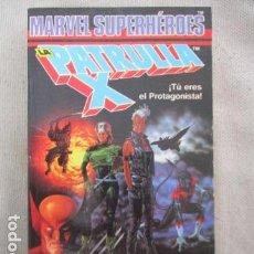 Juegos Antiguos: LIBROJUEGO MARVEL SUPERHÉROES Nº 2 / LA PATRULLA X / UNA MUERTE X - CELENTE / FORUM TSR RPG 1988. Lote 220658883