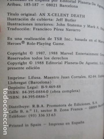 Juegos Antiguos: Librojuego Marvel Superhéroes Nº 2 / La Patrulla X / Una Muerte X - Celente / Forum TSR RPG 1988 - Foto 10 - 220658883