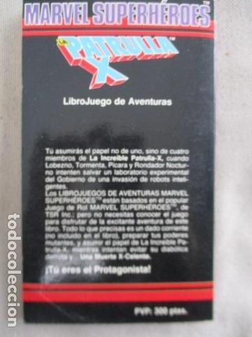 Juegos Antiguos: Librojuego Marvel Superhéroes Nº 2 / La Patrulla X / Una Muerte X - Celente / Forum TSR RPG 1988 - Foto 13 - 220658883