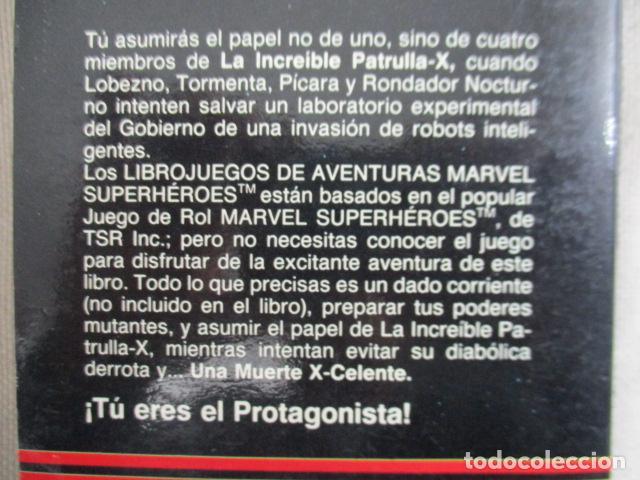 Juegos Antiguos: Librojuego Marvel Superhéroes Nº 2 / La Patrulla X / Una Muerte X - Celente / Forum TSR RPG 1988 - Foto 14 - 220658883