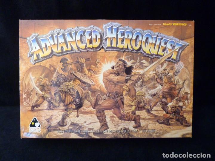 CAJA VACIA ADVANCED HEROQUEST, EN CASTELLANO. GAMES WORKSHOP - DISEÑOS ORBITALES. REF. 5000. PERFECT (Juguetes - Rol y Estrategia - Otros)
