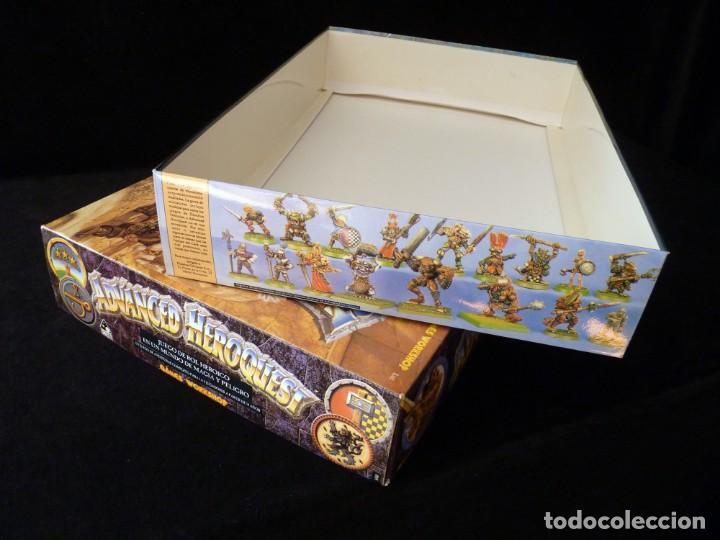 Juegos Antiguos: CAJA VACIA ADVANCED HEROQUEST, EN CASTELLANO. GAMES WORKSHOP - DISEÑOS ORBITALES. REF. 5000. PERFECT - Foto 5 - 159940046