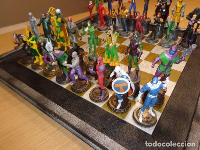 Juegos Antiguos: AJEDREZ DE MARVEL COMPLETO Y ORIGINAL - Foto 4 - 160558590