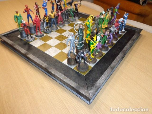Juegos Antiguos: AJEDREZ DE MARVEL COMPLETO Y ORIGINAL - Foto 6 - 160558590