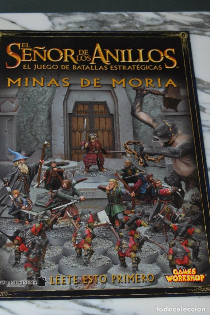 Juegos Antiguos: EL SEÑOR DE LOS ANILLOS - MINAS DE MORIA - BATALLAS ESTRATÉGICAS - GAMES WORKSHOP - JUEGO DE MESA - Foto 2 - 162582066