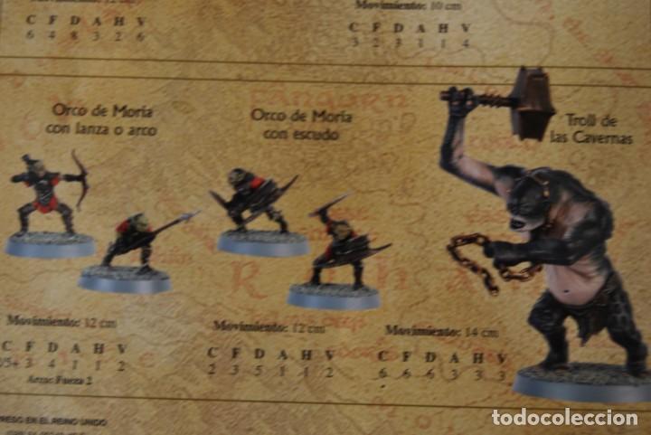 Juegos Antiguos: EL SEÑOR DE LOS ANILLOS - MINAS DE MORIA - BATALLAS ESTRATÉGICAS - GAMES WORKSHOP - JUEGO DE MESA - Foto 9 - 162582066