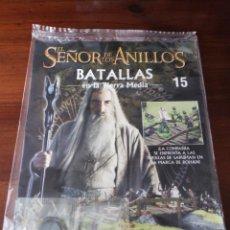 Jogos Antigos: EL SEÑOR DE LOS ANILLOS : BATALLAS EN LA TIERRA MEDIA - FASCICULO N° 15 ( FIGURA PLOMO SARUMAN ). Lote 162683557