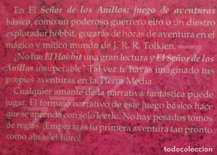 Juegos Antiguos: LIBRO - EL SEÑOR DE LOS ANILLOS - JUEGO DE AVENTURAS BÁSICO - DE LA TIERRA MEDIA DE JRR TOLKIEN JOC - Foto 2 - 164976834