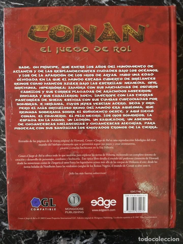 Juegos Antiguos: CONAN EL JUEGO DE ROL EDICION ATLANTEA (EDGE EDG7700) - TAPA DURA - Foto 2 - 168394488