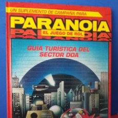 Juegos Antiguos: GUÍA TURÍSTICA SECTOR DOA/PARANOIA/SUPLEMENTO CAMPAÑA/JUEGO DE ROL/INCLUYE MAPA-PÓSTER/JOC, 1993. Lote 170107632