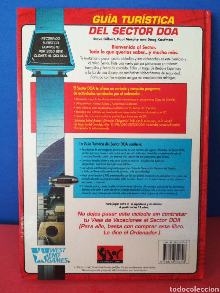 Juegos Antiguos: Guía turística sector DOA/Paranoia/Suplemento campaña/Juego de rol/Incluye mapa-póster/Joc, 1993 - Foto 3 - 170107632
