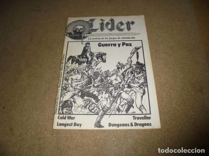 LIDER LA REVISTA DE LOS JUEGOS DE ROL.AÑO I.-Nº 1.-SEGUNDA EPOCA MARZO 1986 (Juguetes - Rol y Estrategia - Juegos de Rol)