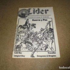 Juegos Antiguos: LIDER LA REVISTA DE LOS JUEGOS DE ROL.AÑO I.-Nº 1.-SEGUNDA EPOCA MARZO 1986. Lote 170300204