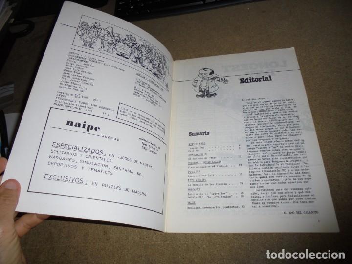 Juegos Antiguos: LIDER LA REVISTA DE LOS JUEGOS DE ROL.AÑO I.-Nº 1.-SEGUNDA EPOCA MARZO 1986 - Foto 2 - 170300204