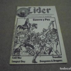 Juegos Antiguos: LIDER LA REVISTA DE LOS JUEGOS DE ROL.AÑO I.-Nº 4.-SEGUNDA EPOCA DICIEMBRE 1986,ESPECIAL ESCENARIOS . Lote 170300504