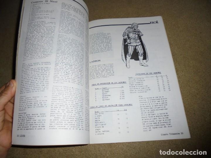 Juegos Antiguos: LIDER LA REVISTA DE LOS JUEGOS DE ROL.AÑO I.-Nº 4.-SEGUNDA EPOCA DICIEMBRE 1986,ESPECIAL ESCENARIOS - Foto 5 - 170300504