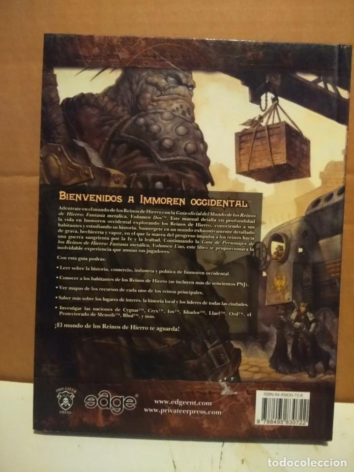 Juegos Antiguos: LIBRO REINOS DE HIERRO ( GUIA DEL MUNDO ) FULL METAL FANTASY, VOLUMEN 2 - Foto 2 - 171676057