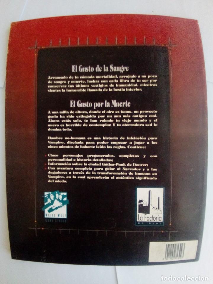 Juegos Antiguos: HAMBRE NO-HUMANA-UNA AVENTURA PARA VAMPIRO: LA MASCARADA-VER FOTOS - Foto 2 - 171705124