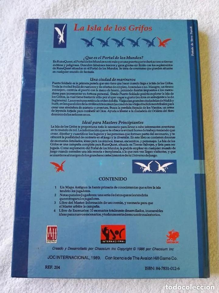 Juegos Antiguos: LA ISLA DE LOS GRIFOS ( LIBRO SUPLEMENTO PARA RUNEQUEST ) - Foto 6 - 171997230