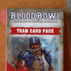 Juegos Antiguos: BLOOD BOWL PAQUETE DE CARTAS EN ESPAÑOL EQUIPO HUMANO. Lote 172028162