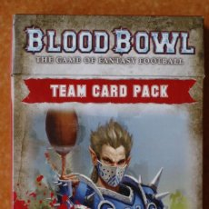 Juegos Antiguos: BLOOD BOWL PAQUETE DE CARTAS EN ESPAÑOL EQUIPO UNION ELFICA. Lote 172028273