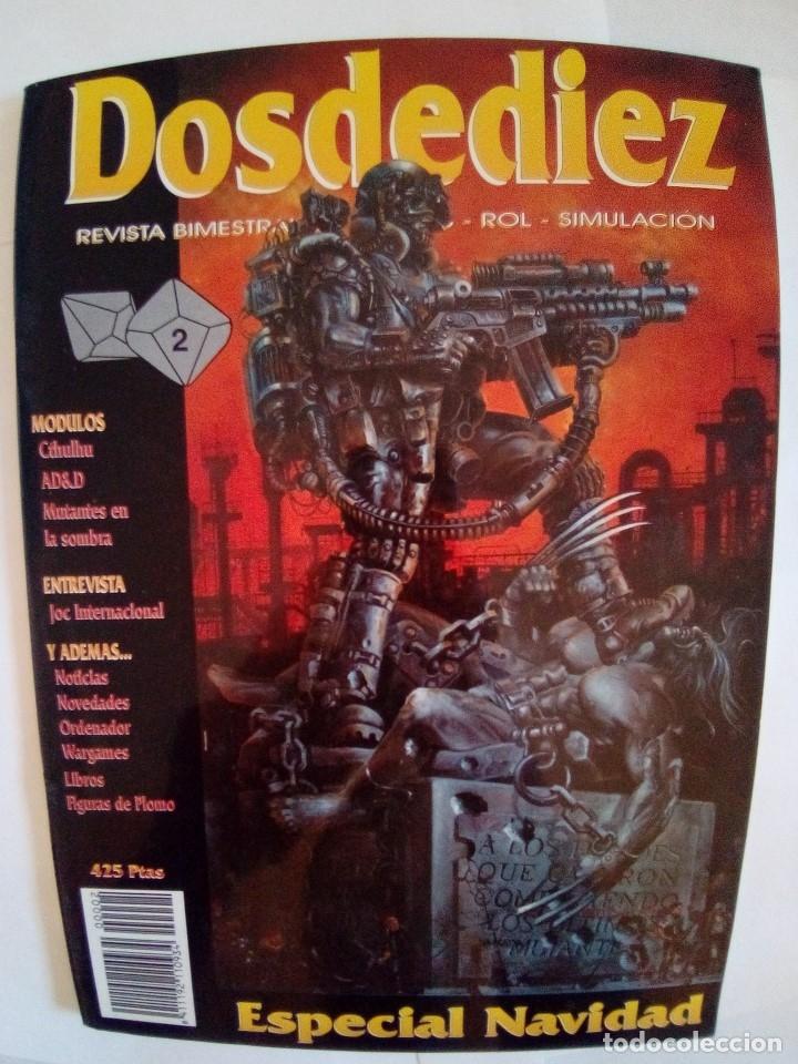 Juegos Antiguos: LOTE DE REVISTAS DOSDEDIEZ Nº 1 Y 2 - Foto 6 - 172363458