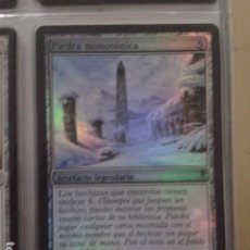Juegos Antiguos: PIEDRA MONOTÓNICA. MAGIC THE GATHERING. MTG. THRUMMING STONE. FOIL. Lote 172420139