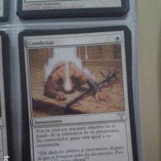 Juegos Antiguos: CONDENAR. MAGIC THE GATHERING. MTG.. Lote 172423728