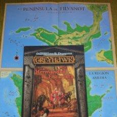 Juegos Antiguos: ADVANCED DUNGEONS & DRAGONS GREYHAWK LA HERMANDAD ESCARLATA (MARTINEZ ROCA TS0012). Lote 172659153