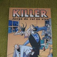 Juegos Antiguos: KILLER JUEGO DE ROL EN VIVO - STEVE JACKSON (JOC INTERNACIONAL) - TAPA DURA. Lote 172683225