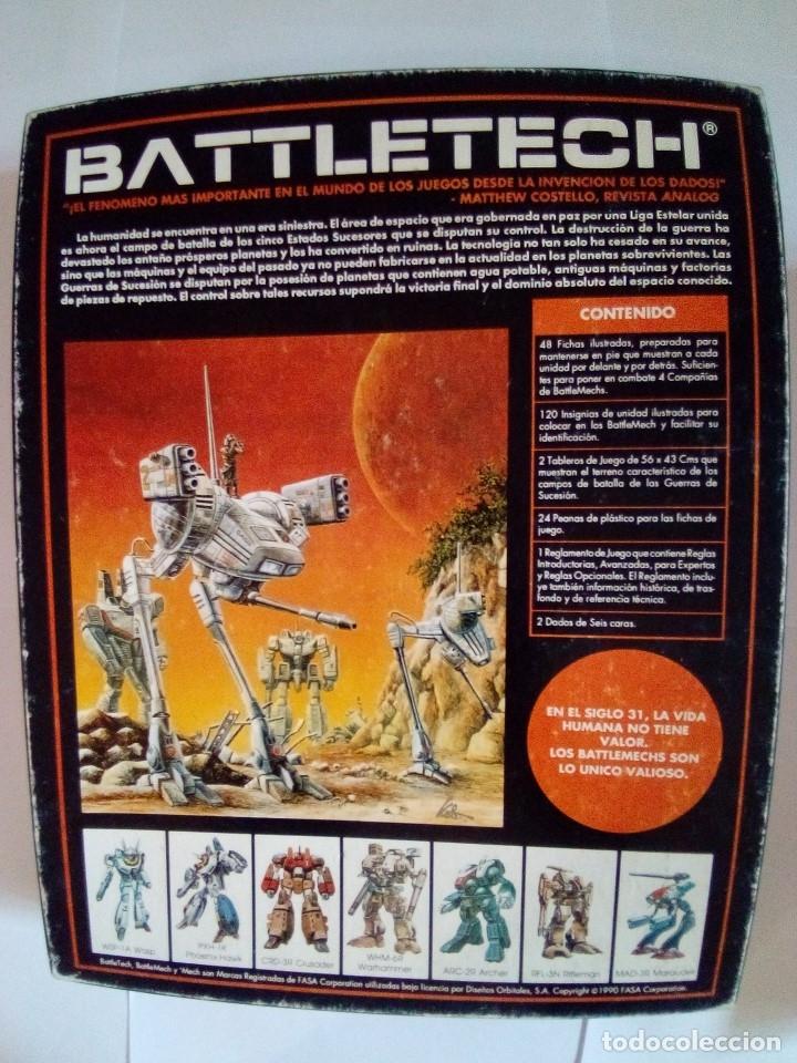 Juegos Antiguos: BATTLETECH-UN JUEGO DE GUERRA MECANIZADA-EDICION 1000-FASA-COMPLETO - Foto 2 - 172838428
