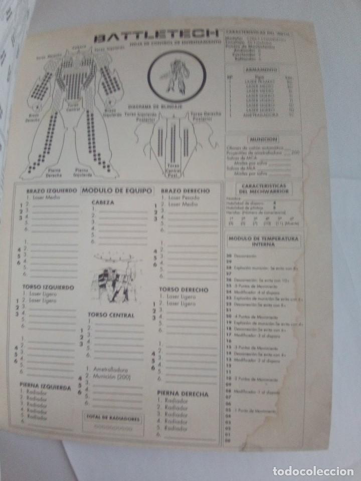 Juegos Antiguos: BATTLETECH-UN JUEGO DE GUERRA MECANIZADA-EDICION 1000-FASA-COMPLETO - Foto 19 - 172838428