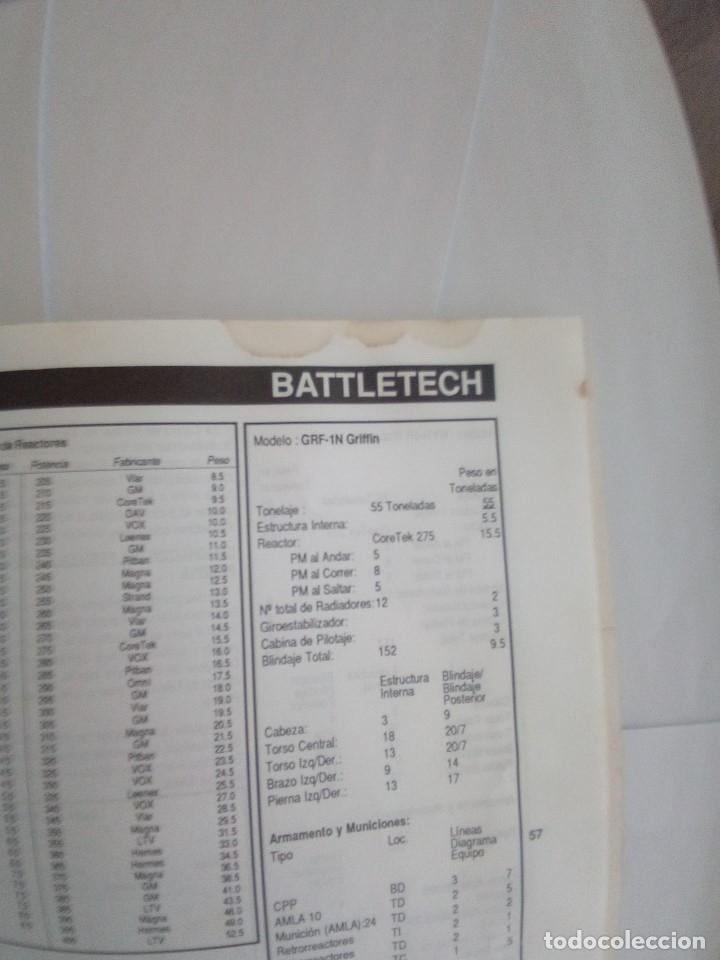 Juegos Antiguos: BATTLETECH-UN JUEGO DE GUERRA MECANIZADA-EDICION 1000-FASA-COMPLETO - Foto 21 - 172838428