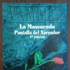 Juegos Antiguos: PACK MUNDO DE TINIEBLAS - PANTALLA DEL NARRADOR VAMPIRO LA MASCARADA Y 8 MÓDULOS AMPLIACIÓN. Lote 172949488