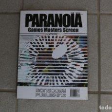 Juegos Antiguos: PANTALLA PARANOIA JUEGO ROL GAME MASTERS SCREEN 2009 MONGOOSE PUBLISHING . Lote 173078990