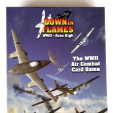Juegos Antiguos: WARGAME • DOWN IN FLAMES WWII ACES HIGH (DVG GAMES, 2008) COMBATE AÉREO • NUEVO (UNPUNCHED). Lote 174184029