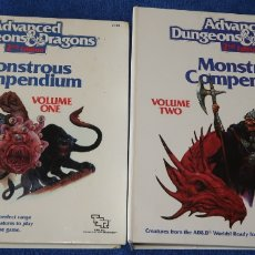 Juegos Antiguos: MONSTROUS COMPENDIUM - VOL. 1 Y 2 - ADVANCED DUNGEOUS & DRAGONS - TSR INC. (1989). Lote 175538259