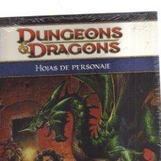 Juegos Antiguos: DUNGEONS DRAGONS HOJAS DE PERSONAJES. Lote 175594235