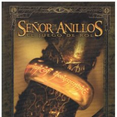 Juegos Antiguos: LIBRO DE ROL BÁSICO EL SEÑOR DE LOS ANILLOS COLOR TIERRA MEDIA LA FACTORIA DECIPHER NUEVO. Lote 175643124